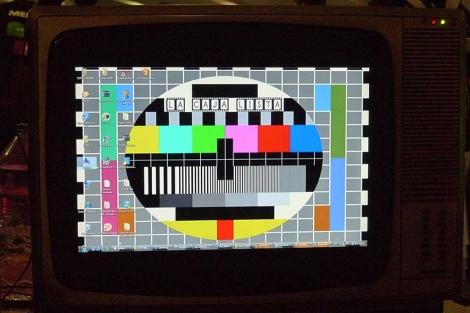 Un ordenador, 'tuneado' imitando una televisión antigua. | Foto: S.R.