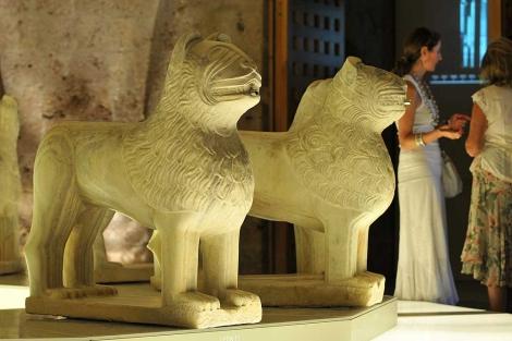 Los leones de la Alhambra, restaurados. | Jesús García Hinchado
