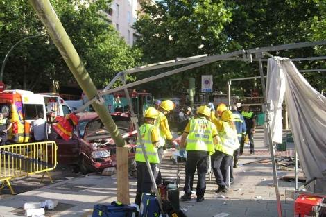 Accidente en El Rastro madrileño. | Ayuntamiento de Madrid