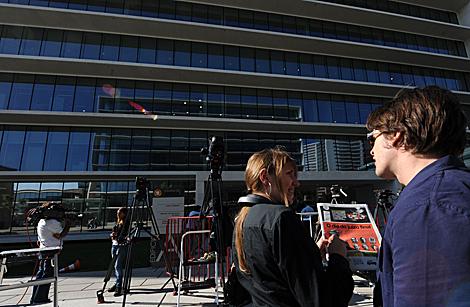Hoy, día en el que se debe leer la sentencia, se ha creado gran expectación ante el tribunal de Lisboa. | Afp