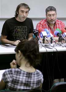 Unai Martínez y Alberto Cristóbal; secretarios generales de las  Federaciones del Metal de ELA y LAB