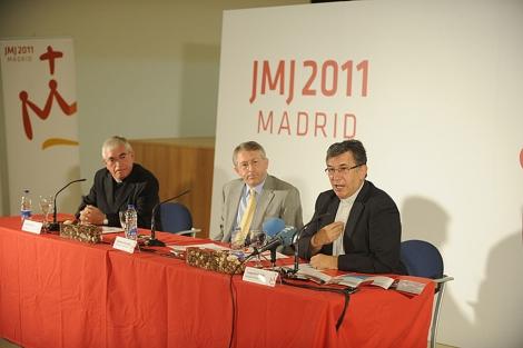 Ángel Matesanz, Gregorio Roldán y Santiago de la Cierva, en la presentación de la JMJ.