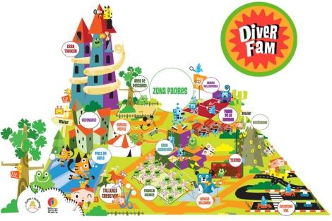 Maqueta de la feria 'DiverFam'.