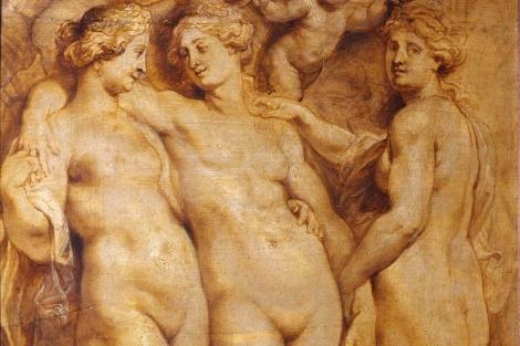 Las tres gracias', de Rubens, perteneciente al Palacio Pitti de Florencia, en Italia. | Efe.