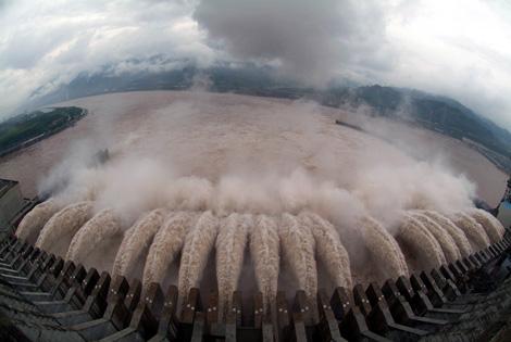 Imagen a�rea de la presa de las tres gargantas (China). | Afp