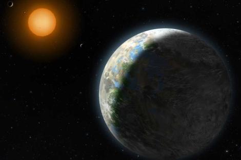 Recreación del planeta Gliese 581 g.| Lisette Cook