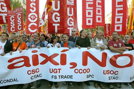 Manifestación en Barcelona. | Efe