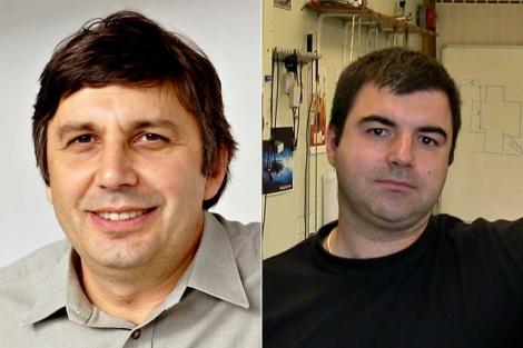 Andre Geim (i) y Konstantin Novoselov (d). | AFP