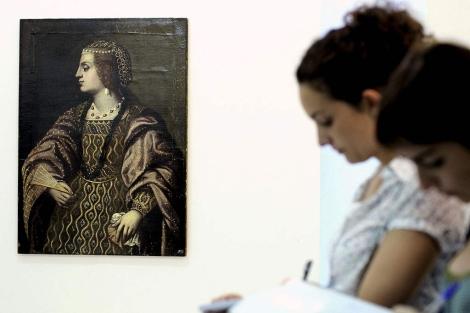 Momento de la presentación del cuadro este jueves en Valentia Gallery | Efe