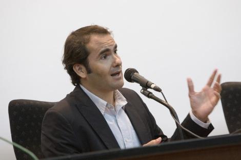 El periodista David Jiménez en la Universidad de Málaga. | J. Domínguez