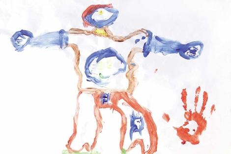 Uno de los dibujos expuestos en la exposición.