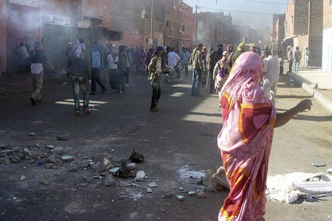 Disturbios en El Aaiun, esta semana. | Efe