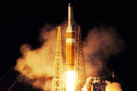 El satélite espía viajó a bordo del mayor cohete no tripulado de EEUU. | AP