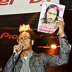 Johann Wald, presentador de la fiesta presentación de 'Vicious Magazine'