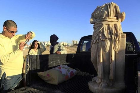 La escultura descubierta en Ashkelon. | Efe