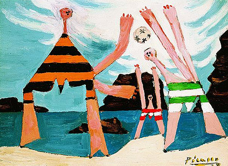 'Baistas con baln de playa' (1928), una de las obras de la muestra. | Kunsthaus Zrich
