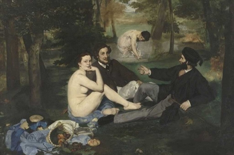 'Le djeuner sur l'herbe', Edouard Manet. | Muse d'Orsay, Pars