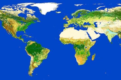 El mapamundi elaborado con la información del satelite Envisat. | ESA