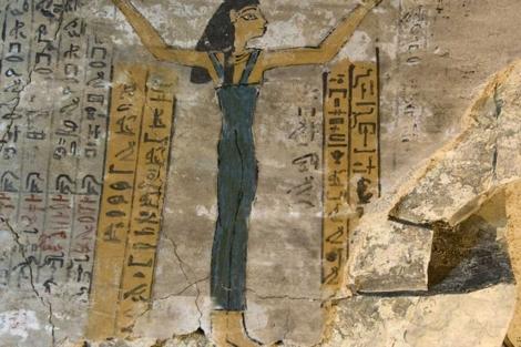 Diosa Nut en la tumba del escriba Djehuty.|CSIC