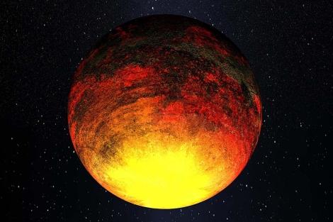 Recreación del planeta Kepler-10b, fuera del Sistema Solar. | NASA