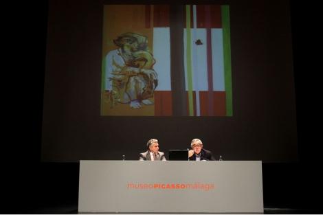 Paulino Plata y José Lebrero durante la presentación. | Carlos Díaz