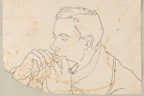 Retrato de Miguel Hernández, realizado por Benjamín Palencia hacia 1935