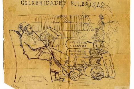 Dibujo de Miguel de Unamuno