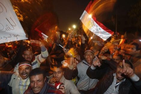 Celebraciones en la Plaza Tahrir. | Reuters