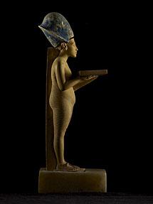 La estatua de Akenatón recuperada.