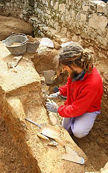 Trabajo de excavación.| C. S. (Ical)