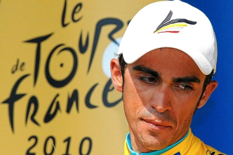 Imagen de Contador en el Tour de Francia de 2010. | Reuters