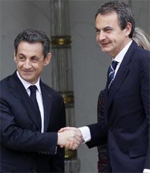 Zapatero, a su llegada. | AP