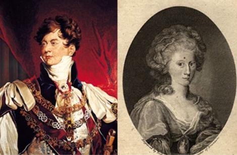 Jorge IV y Carolina de Brunswick.