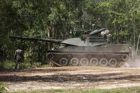 Un tanque del ejército tailandés en la zona del conflicto con Camboya. | Reuters
