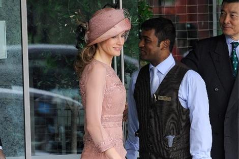 La princesa Letizia a la salida de su hotel. | Foto: Gtres