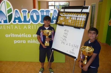Los dos hermanos posan con sus trofeos. | H. S.