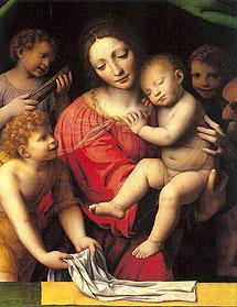 'La Virgen con el Niño'.