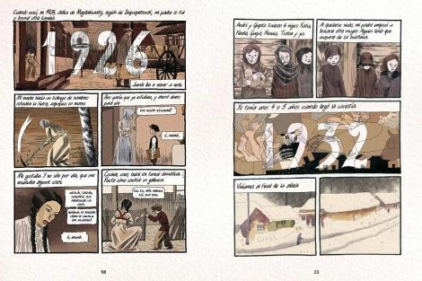 Dos páginas del cómic 'Cuadernos ucranianos', del dibujante Igort Tuveri.