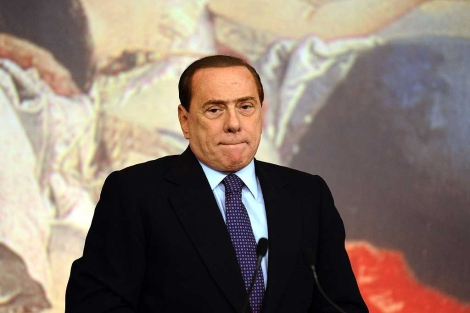Silvio Berlusconi, durante el anuncio de las medidas de austeridad. | Afp