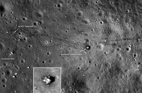 Lugar de aterrizaje del Apolo 17. | NASA.