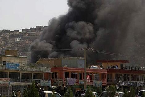 Aspecto del centro de Kabul durante el ataque talibán. | Al Arabiya