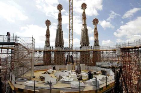 Estado de las obras en la cúpula central. | Antonio Moreno