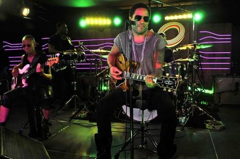 Lenny Kravitz, en su actuación del miércoles. (Efe)