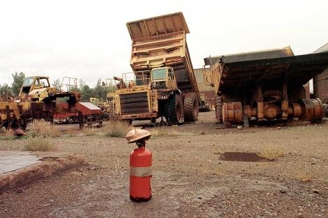 Material de la antigua explotación abandonado a finales de los años 90. | EM