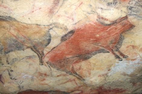 Pintura rupestre en el interior de la cueva de Altamira.| 'Science'
