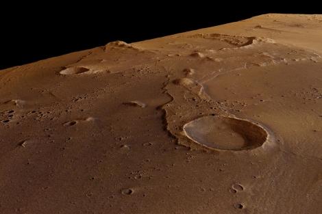 Imagen de los cráteres marcianos captados por la 'Mars Express'. | ESA