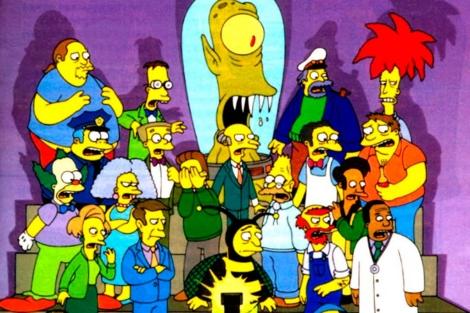 Fotograma con algunos de los personajes de 'Los Simpsons'.