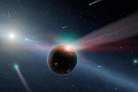 Recreación artística de una lluvia de cometas. | Reuters / NASA