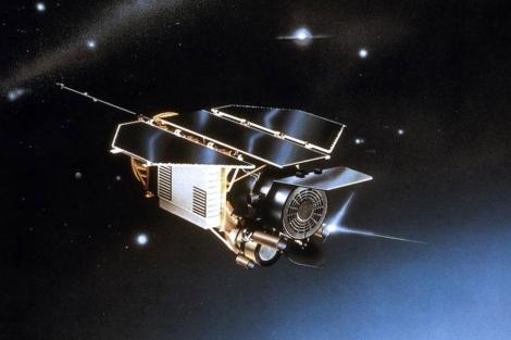 Recreación del satélite alemán Rosat.| AP