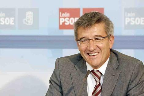 Fernández, este jueves en su comparecencia en la sede del PSOE leonés. | Bruno Moreno